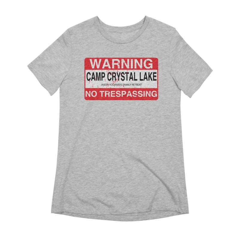 Camp Crystal Lake no trespassing Women's Extra Soft T-Shirt by oldtee's Artist Shop