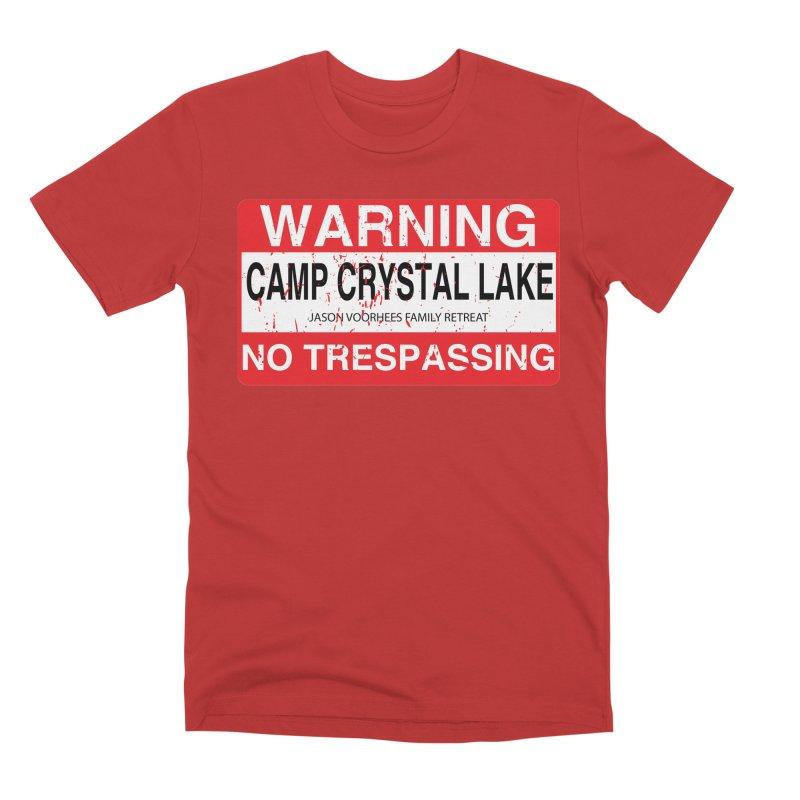 Camp Crystal Lake no trespassing Men's Premium T-Shirt by oldtee's Artist Shop