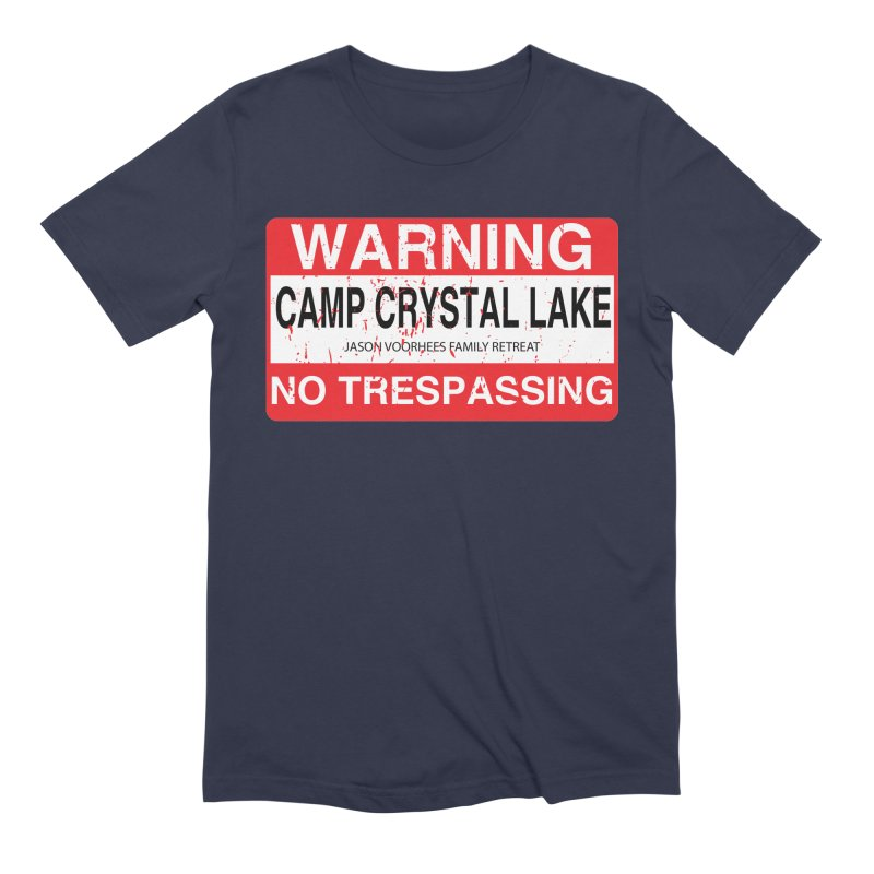 Camp Crystal Lake no trespassing Men's Extra Soft T-Shirt by oldtee's Artist Shop