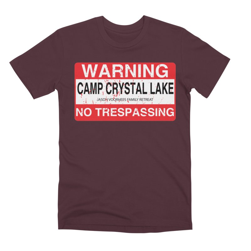 Camp Crystal Lake no trespassing Men's Premium T-Shirt by oldtee's Artist Shop