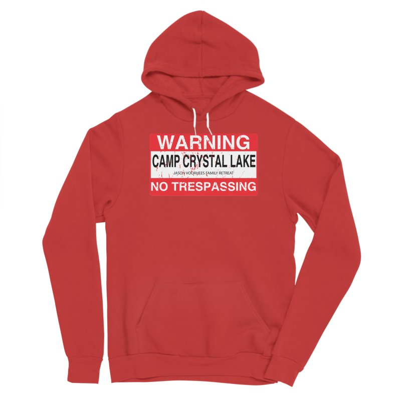 Camp Crystal Lake no trespassing Men's Pullover Hoody by oldtee's Artist Shop