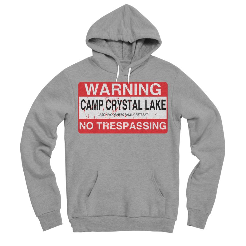 Camp Crystal Lake no trespassing Women's Sponge Fleece Pullover Hoody by oldtee's Artist Shop
