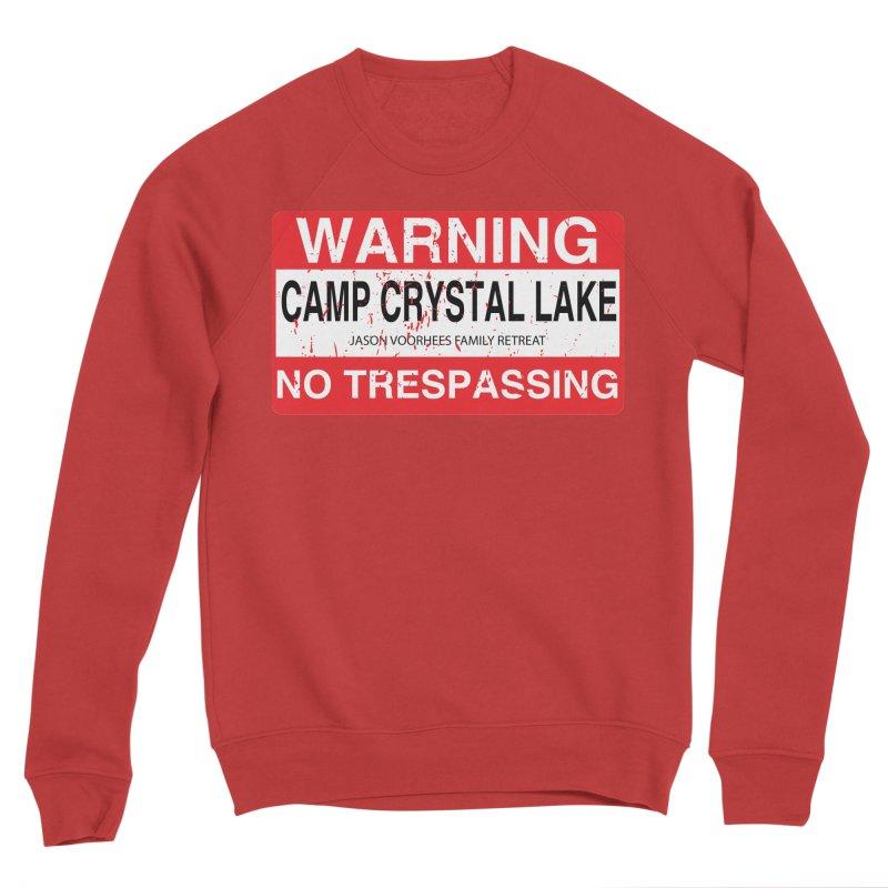 Camp Crystal Lake no trespassing Women's Sponge Fleece Sweatshirt by oldtee's Artist Shop