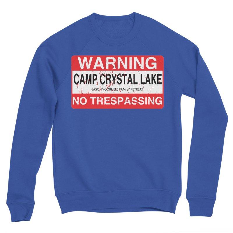 Camp Crystal Lake no trespassing Men's Sponge Fleece Sweatshirt by oldtee's Artist Shop