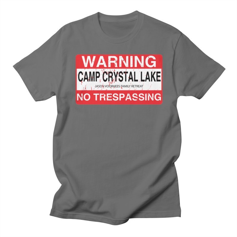 Camp Crystal Lake no trespassing Men's T-Shirt by oldtee's Artist Shop