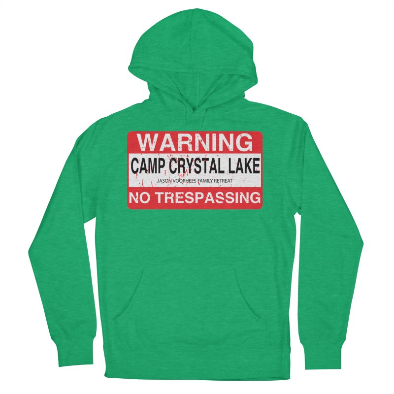 Camp Crystal Lake no trespassing Women's French Terry Pullover Hoody by oldtee's Artist Shop