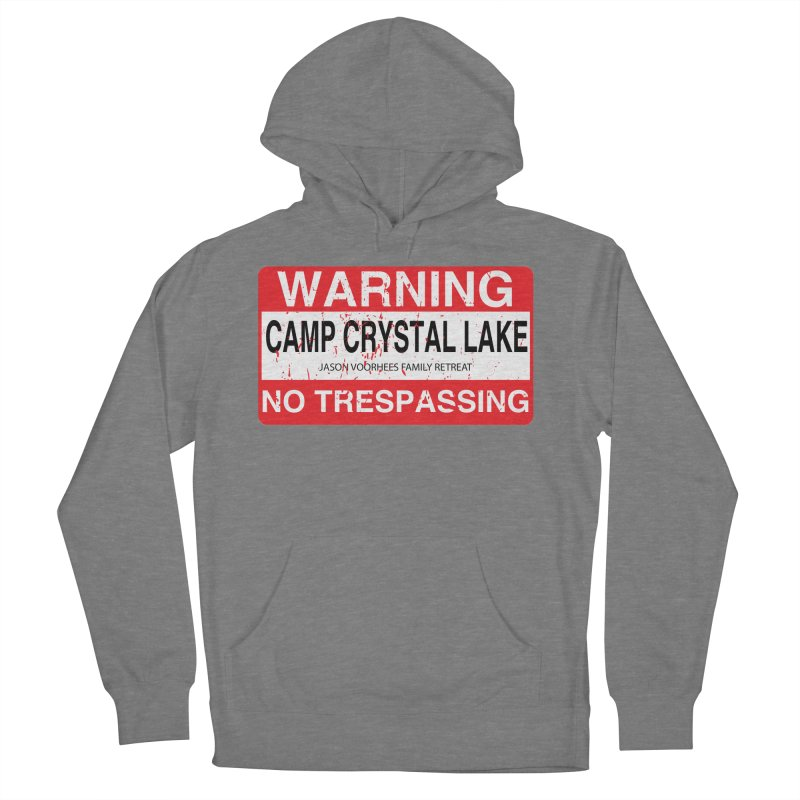 Camp Crystal Lake no trespassing Men's French Terry Pullover Hoody by oldtee's Artist Shop