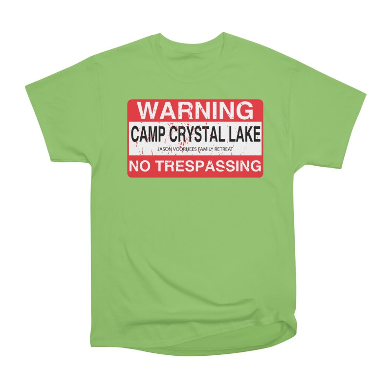 Camp Crystal Lake no trespassing Men's Heavyweight T-Shirt by oldtee's Artist Shop