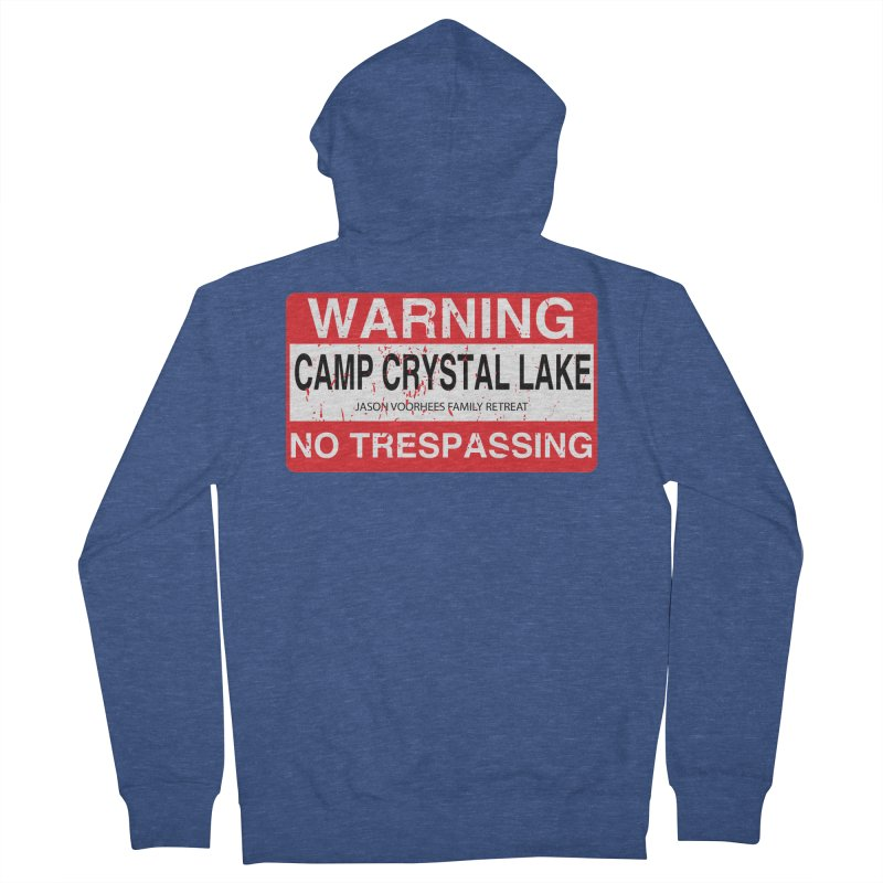 Camp Crystal Lake no trespassing Men's French Terry Zip-Up Hoody by oldtee's Artist Shop