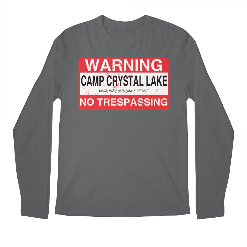 Camp Crystal Lake no trespassing Men's Regular Longsleeve T-Shirt by oldtee's Artist Shop