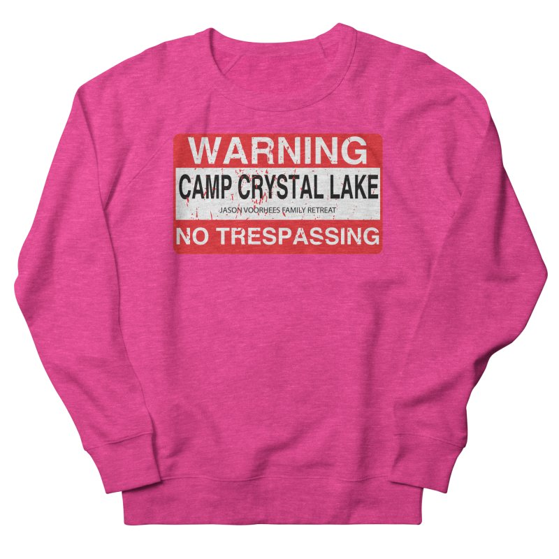 Camp Crystal Lake no trespassing Men's French Terry Sweatshirt by oldtee's Artist Shop