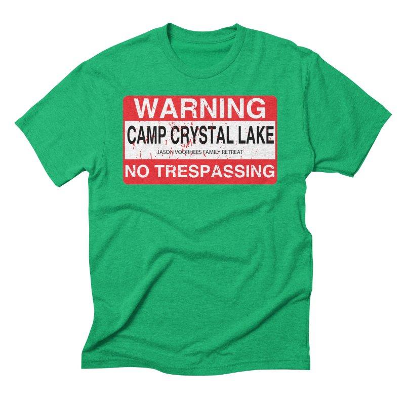 Camp Crystal Lake no trespassing Men's Triblend T-Shirt by oldtee's Artist Shop