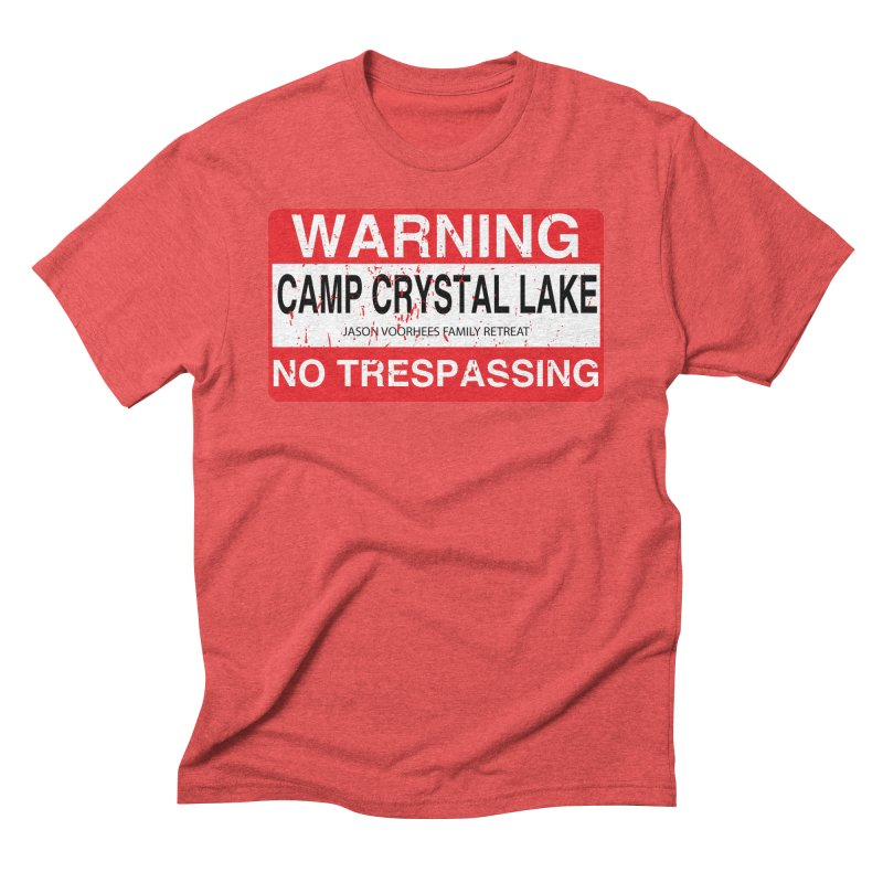 Camp Crystal Lake no trespassing Men's Triblend T-Shirt by oldtee's Artist Shop