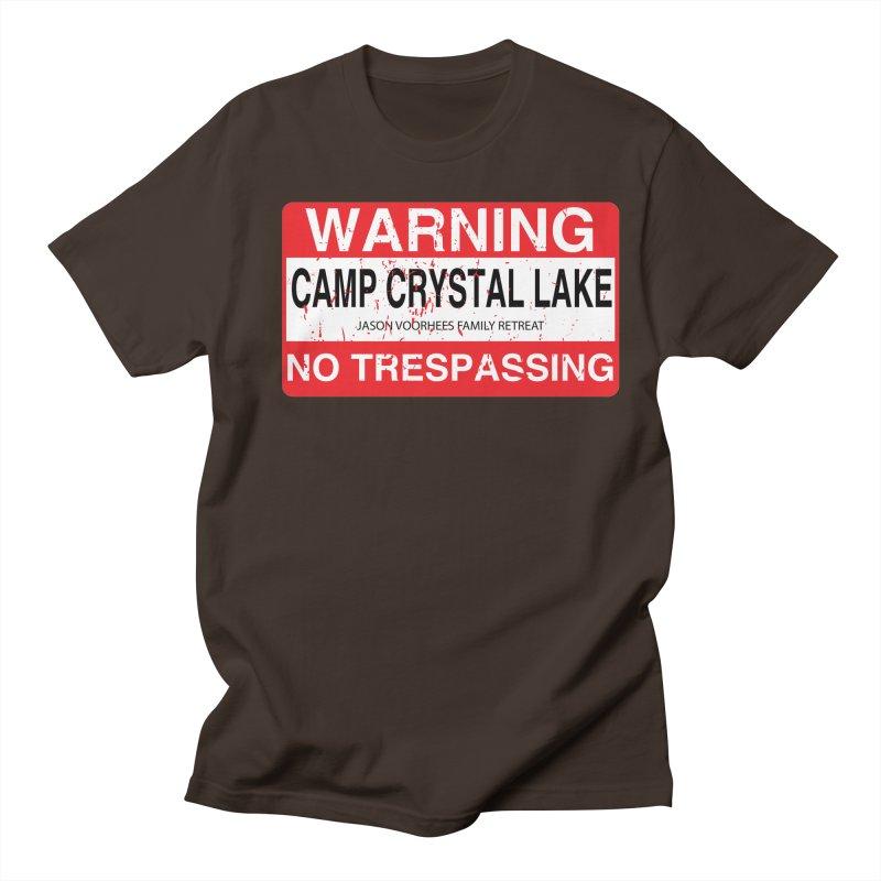 Camp Crystal Lake no trespassing Men's Regular T-Shirt by oldtee's Artist Shop