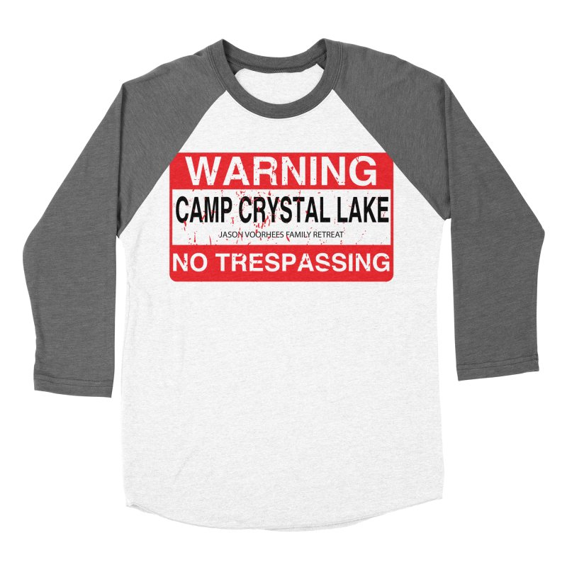 Camp Crystal Lake no trespassing Women's Baseball Triblend Longsleeve T-Shirt by oldtee's Artist Shop