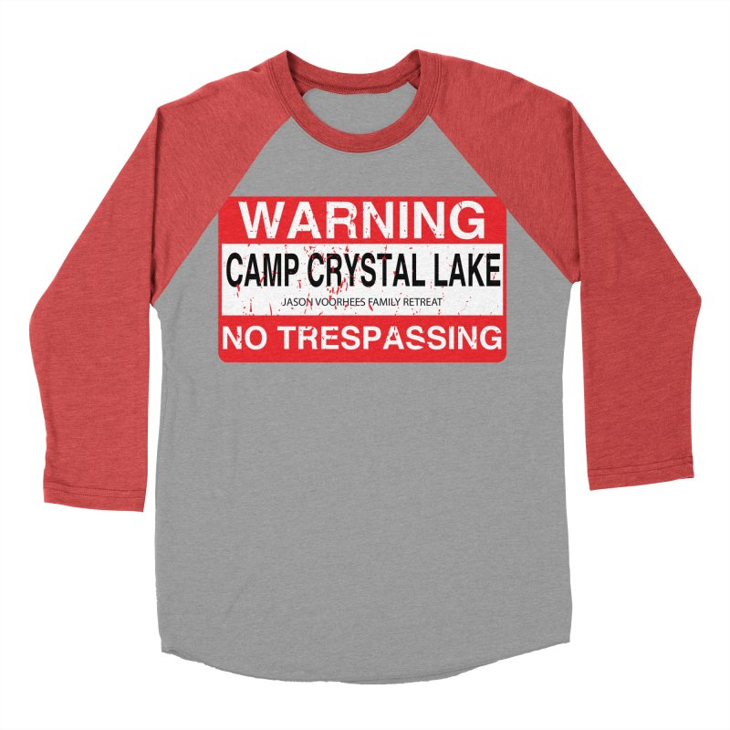 Camp Crystal Lake no trespassing Men's Baseball Triblend Longsleeve T-Shirt by oldtee's Artist Shop
