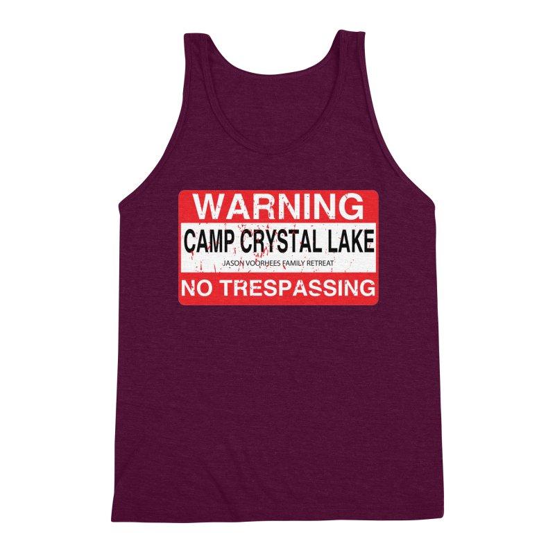 Camp Crystal Lake no trespassing Men's Triblend Tank by oldtee's Artist Shop