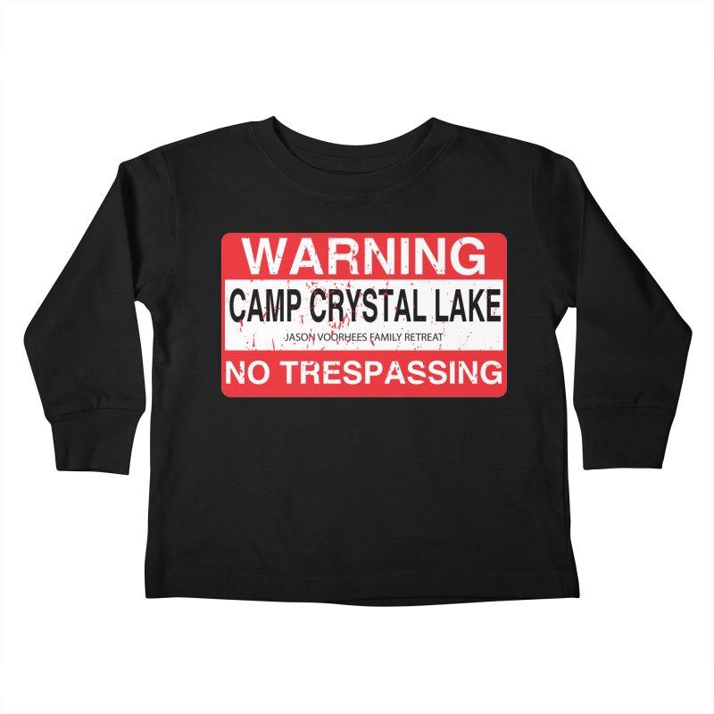 Camp Crystal Lake no trespassing Kids Toddler Longsleeve T-Shirt by oldtee's Artist Shop