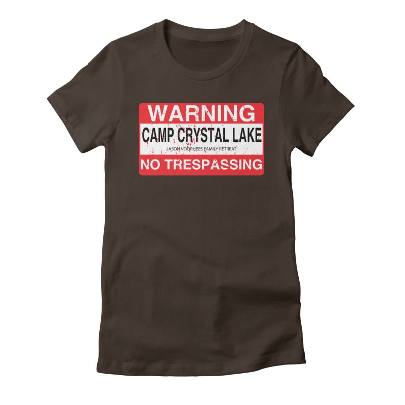 Camp Crystal Lake no trespassing Women's Fitted T-Shirt by oldtee's Artist Shop