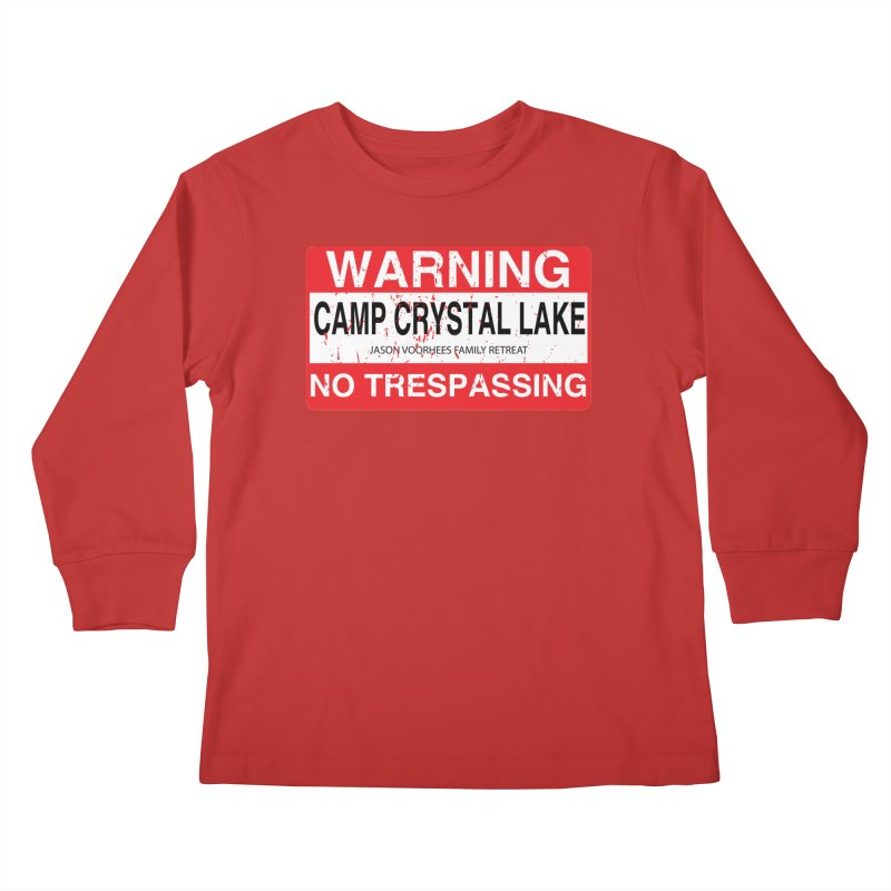 Camp Crystal Lake no trespassing Kids Longsleeve T-Shirt by oldtee's Artist Shop