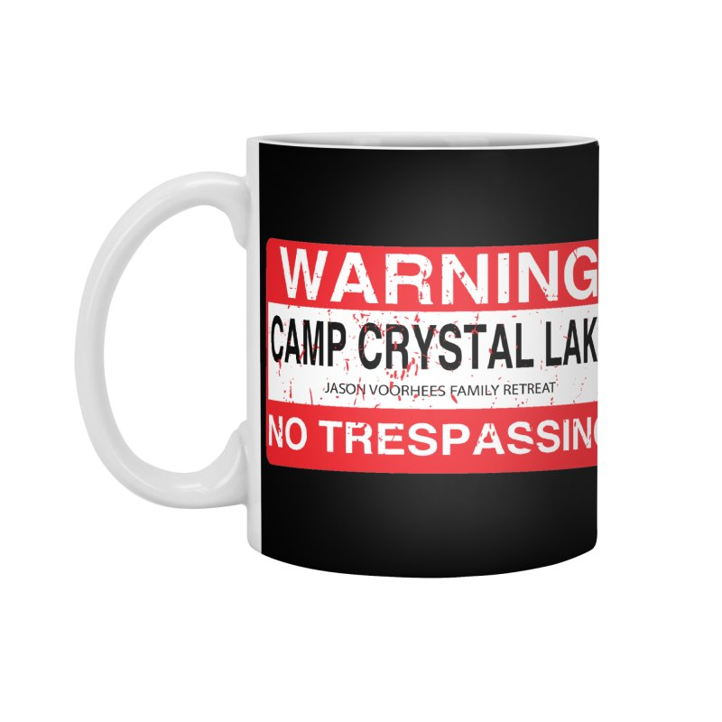Camp Crystal Lake no trespassing Accessories Standard Mug by oldtee's Artist Shop