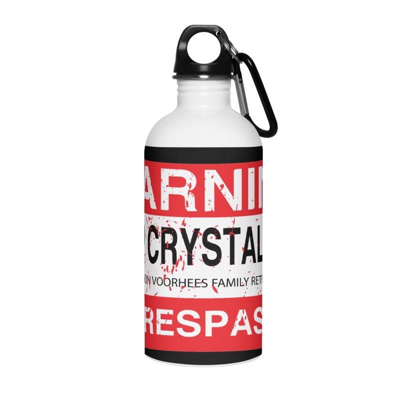 Camp Crystal Lake no trespassing Accessories Water Bottle by oldtee's Artist Shop