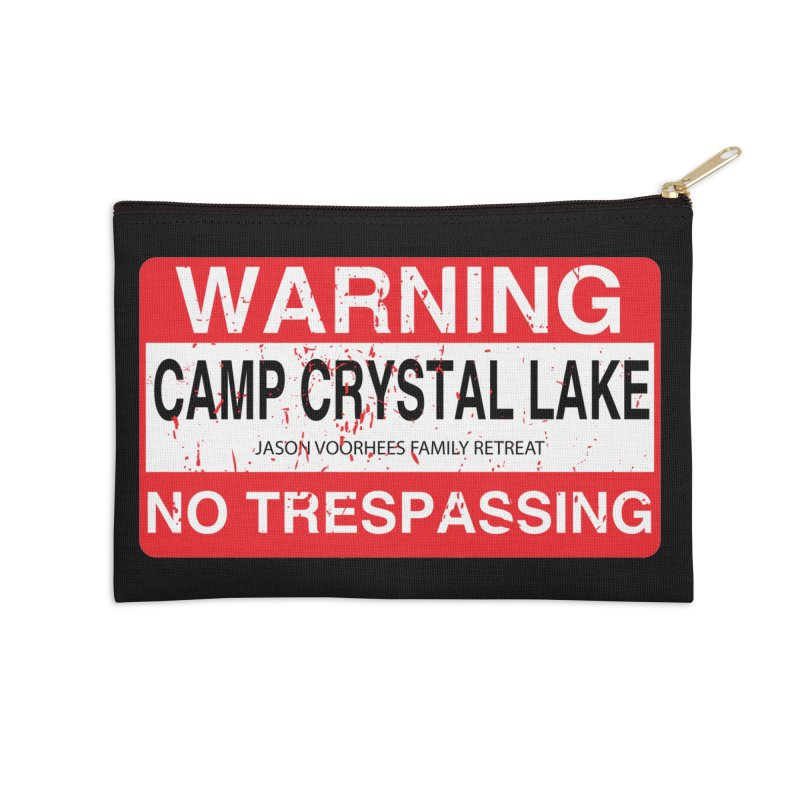 Camp Crystal Lake no trespassing Accessories Zip Pouch by oldtee's Artist Shop
