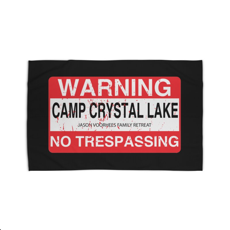 Camp Crystal Lake no trespassing Home Rug by oldtee's Artist Shop