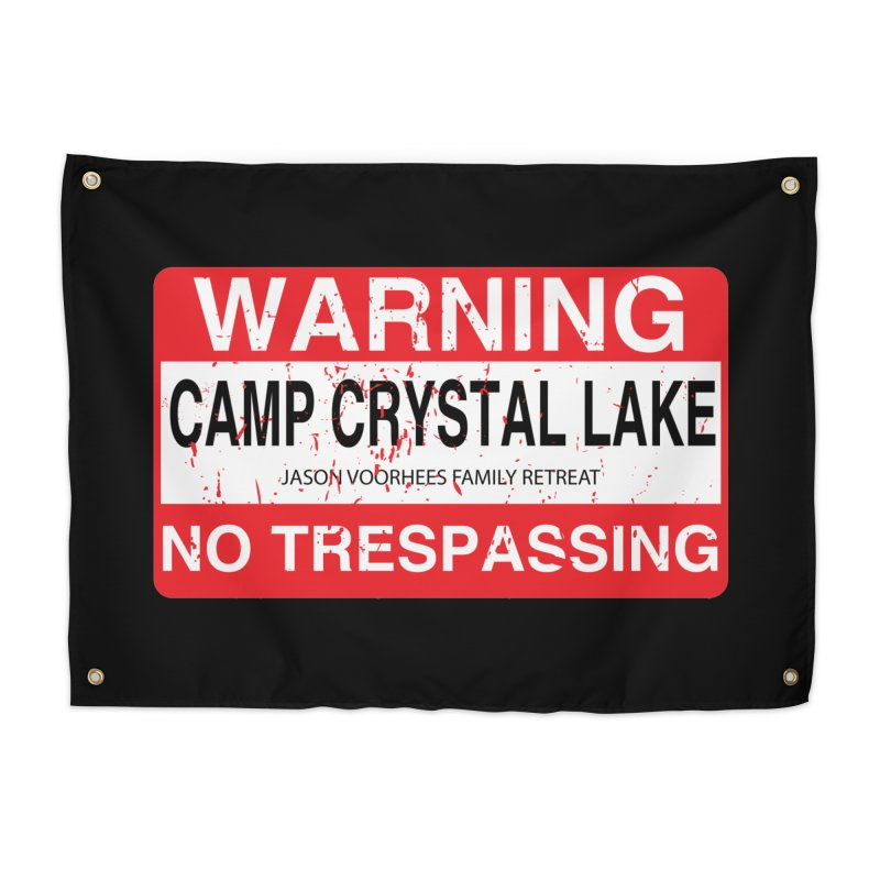 Camp Crystal Lake no trespassing Home Tapestry by oldtee's Artist Shop