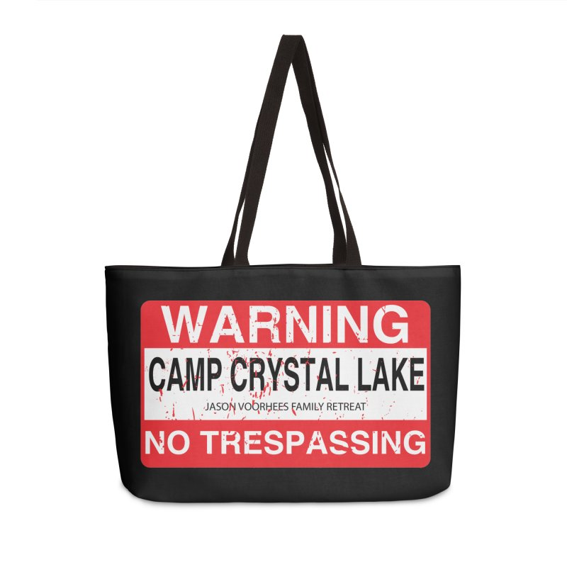 Camp Crystal Lake no trespassing Accessories Weekender Bag Bag by oldtee's Artist Shop
