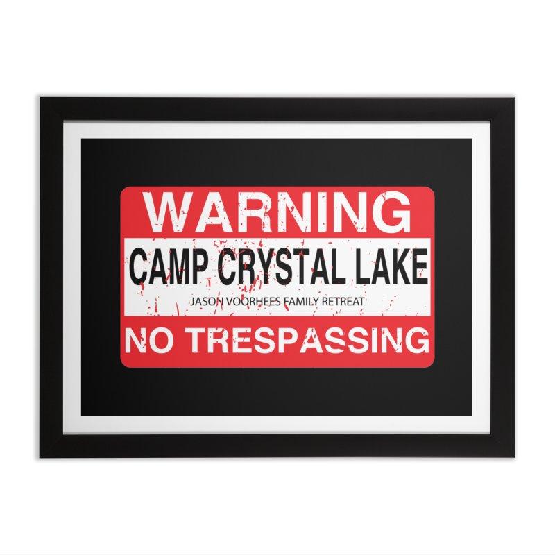 Camp Crystal Lake no trespassing Home Framed Fine Art Print by oldtee's Artist Shop