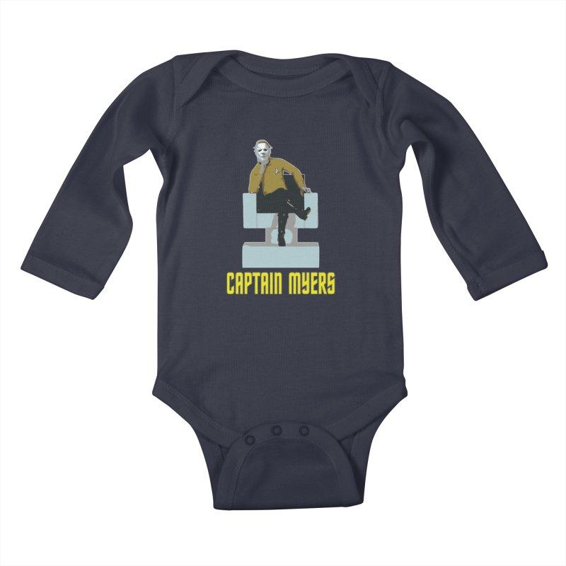 Captain Myers Kids Baby Longsleeve Bodysuit by oldtee's Artist Shop