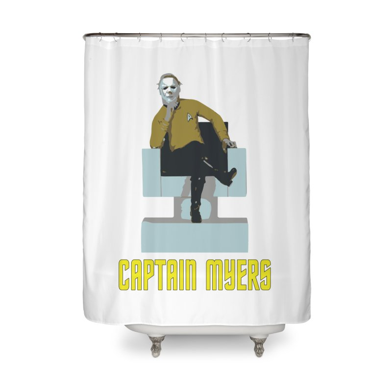 Captain Myers Home Shower Curtain by oldtee's Artist Shop