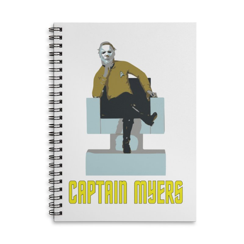 Captain Myers Accessories Lined Spiral Notebook by oldtee's Artist Shop