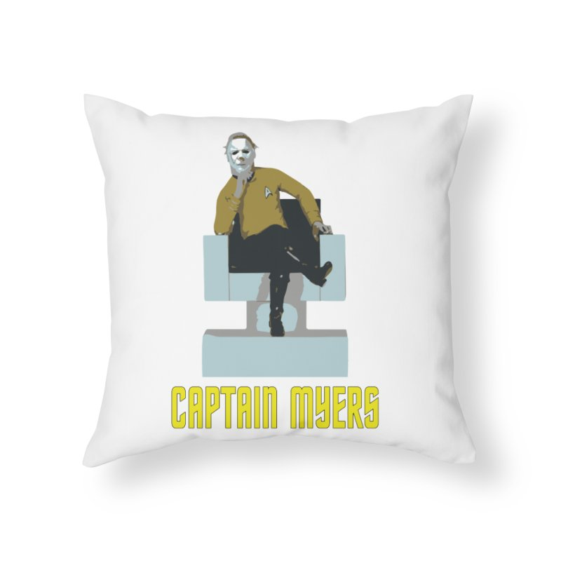 Captain Myers Home Throw Pillow by oldtee's Artist Shop
