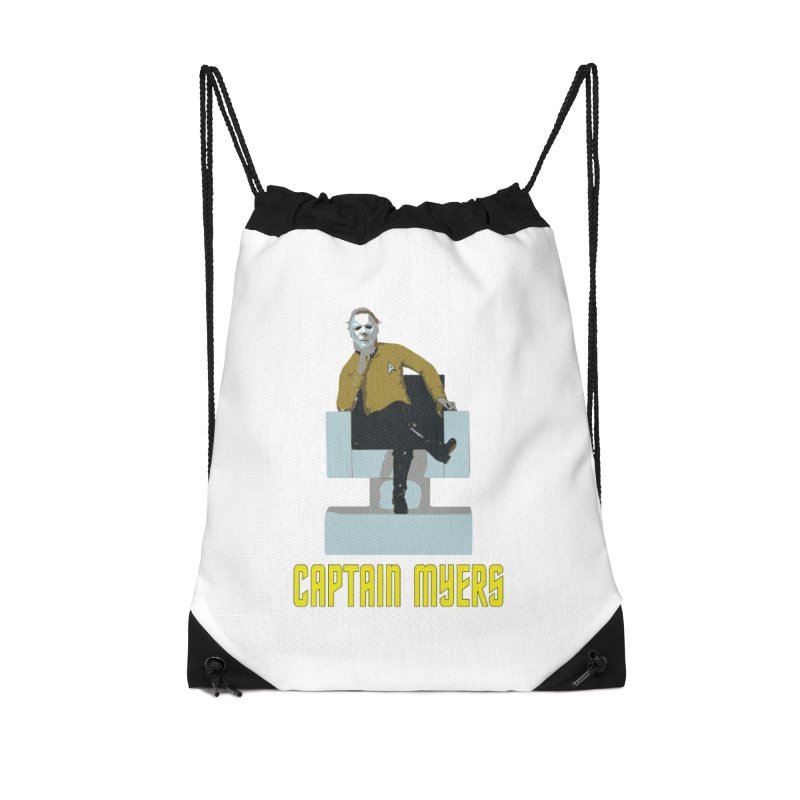 Captain Myers Accessories Drawstring Bag Bag by oldtee's Artist Shop