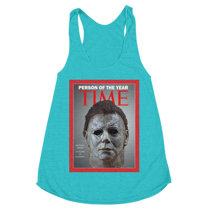 Slasher of the year Women's Racerback Triblend Tank by oldtee's Artist Shop
