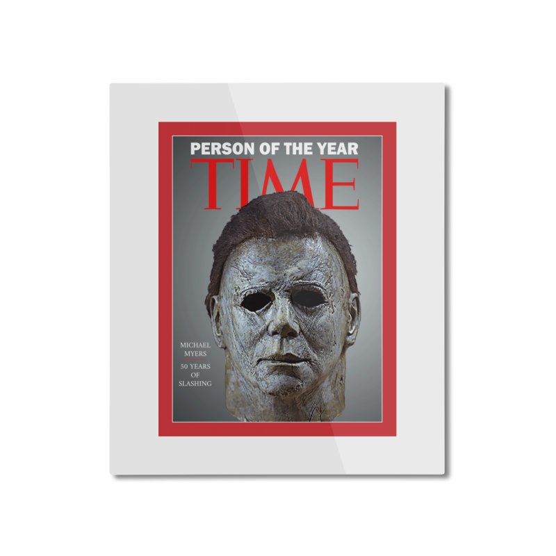 Slasher of the year Home Mounted Aluminum Print by oldtee's Artist Shop