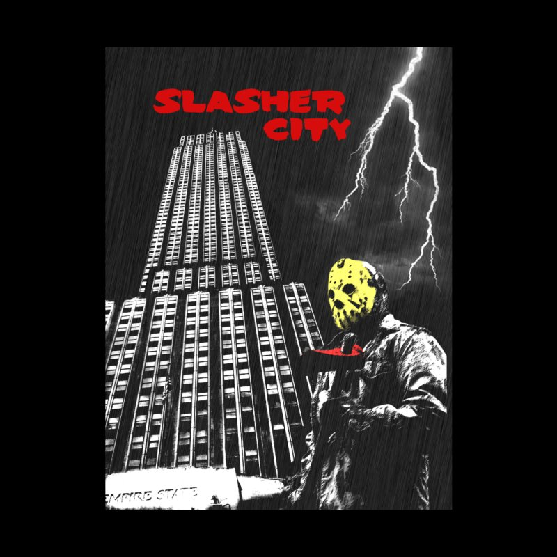 Slasher City Men's T-Shirt by oldtee's Artist Shop