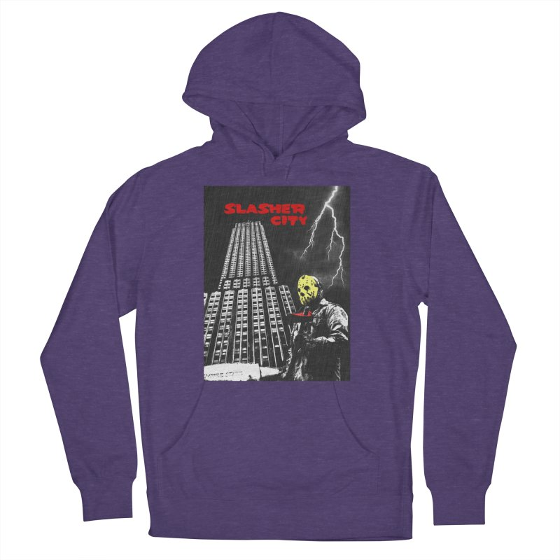 Slasher City Men's French Terry Pullover Hoody by oldtee's Artist Shop