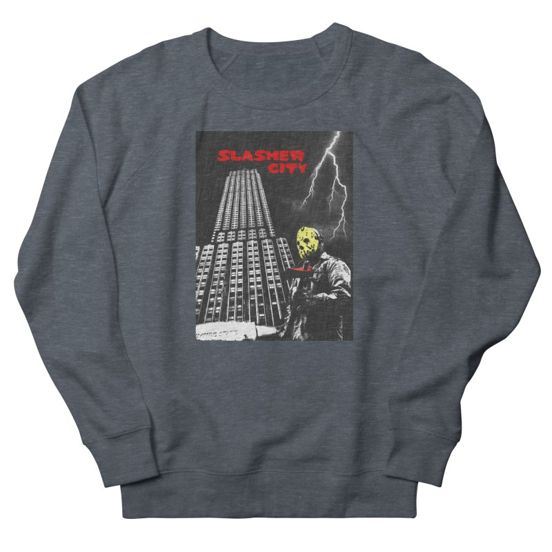 Slasher City Men's French Terry Sweatshirt by oldtee's Artist Shop
