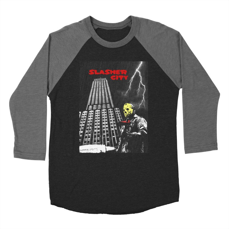 Slasher City Men's Baseball Triblend Longsleeve T-Shirt by oldtee's Artist Shop