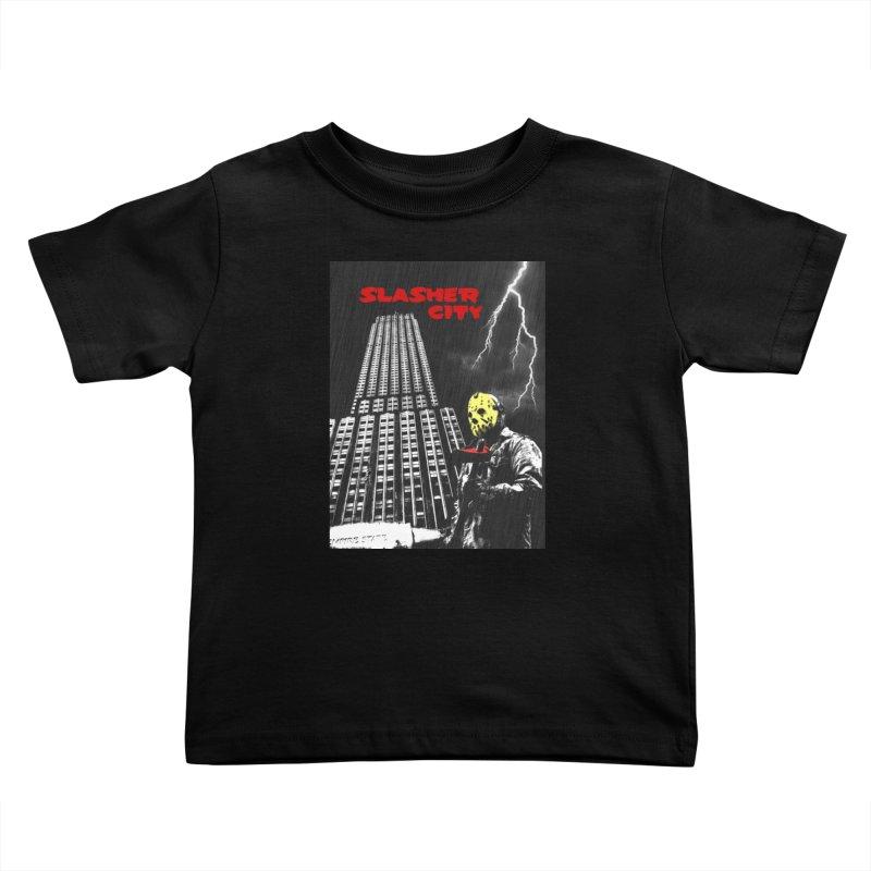 Slasher City Kids Toddler T-Shirt by oldtee's Artist Shop
