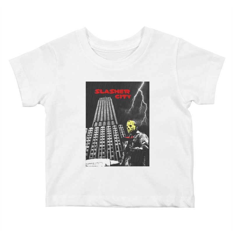 Slasher City Kids Baby T-Shirt by oldtee's Artist Shop