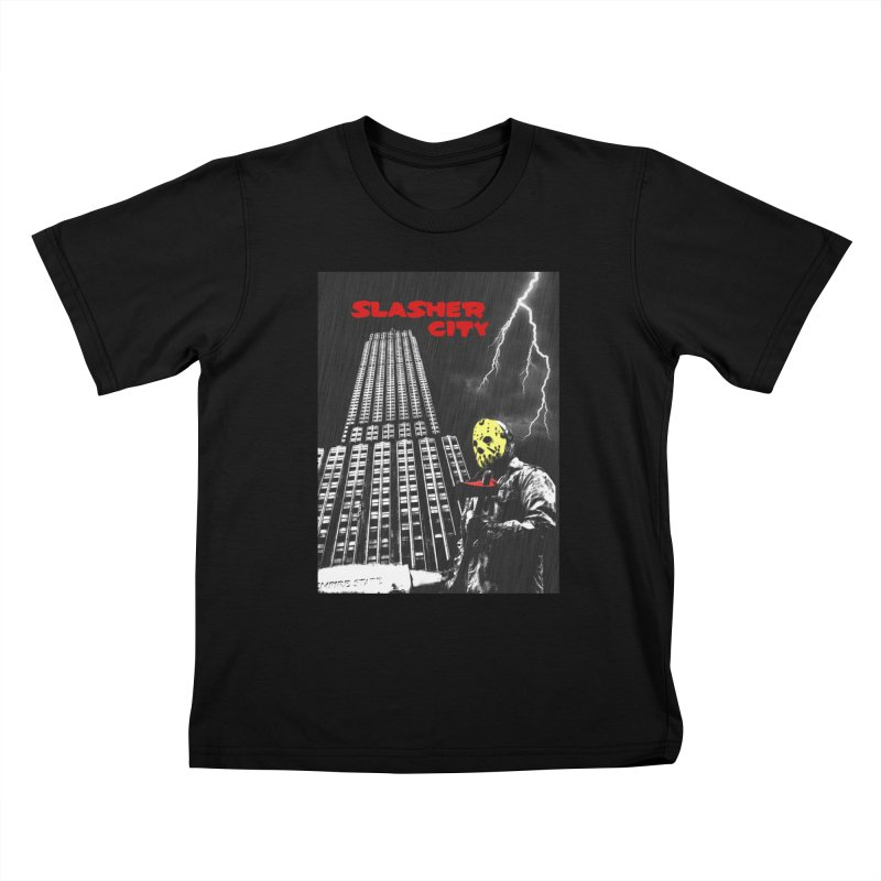 Slasher City Kids T-Shirt by oldtee's Artist Shop