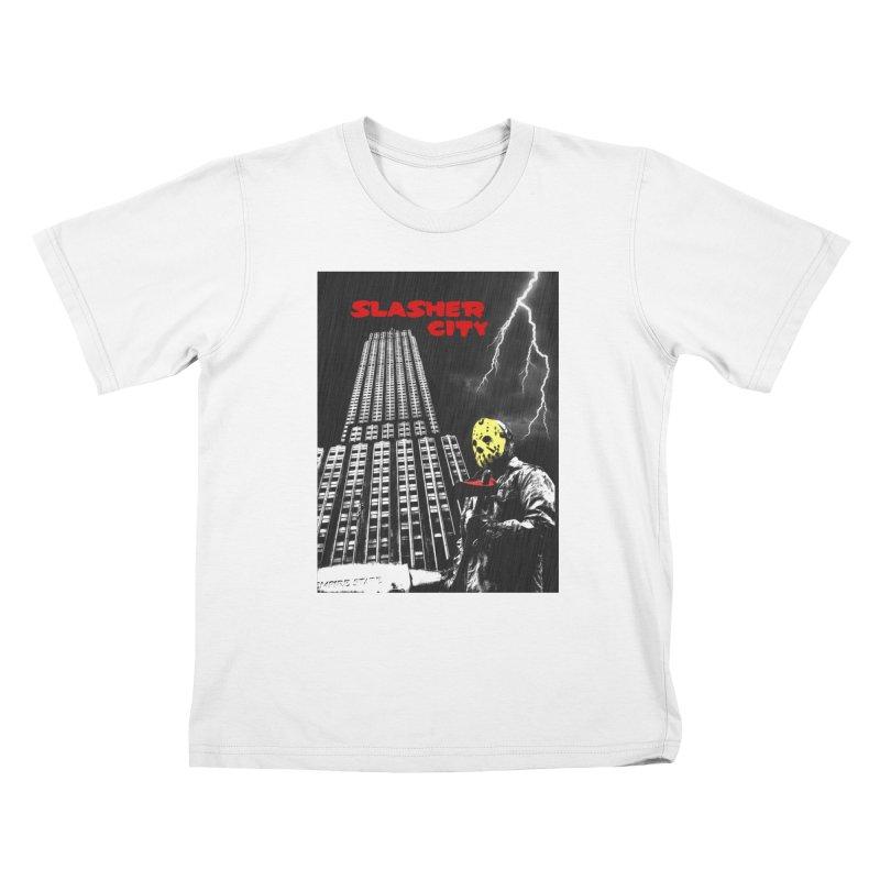 Slasher City Kids T-Shirt by oldtee's Artist Shop