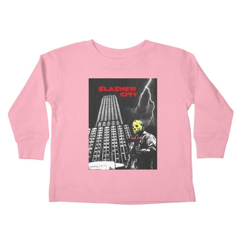 Slasher City Kids Toddler Longsleeve T-Shirt by oldtee's Artist Shop