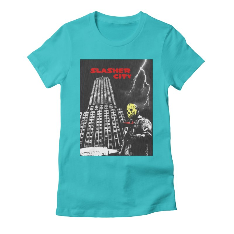 Slasher City Women's Fitted T-Shirt by oldtee's Artist Shop