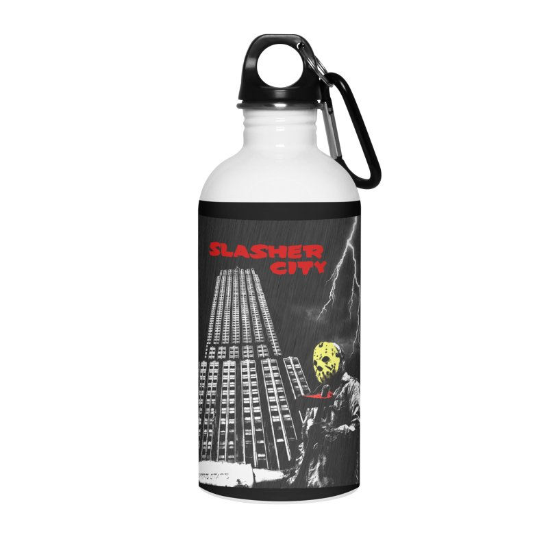 Slasher City Accessories Water Bottle by oldtee's Artist Shop