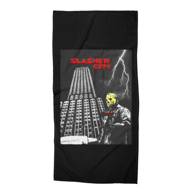 Slasher City Accessories Beach Towel by oldtee's Artist Shop